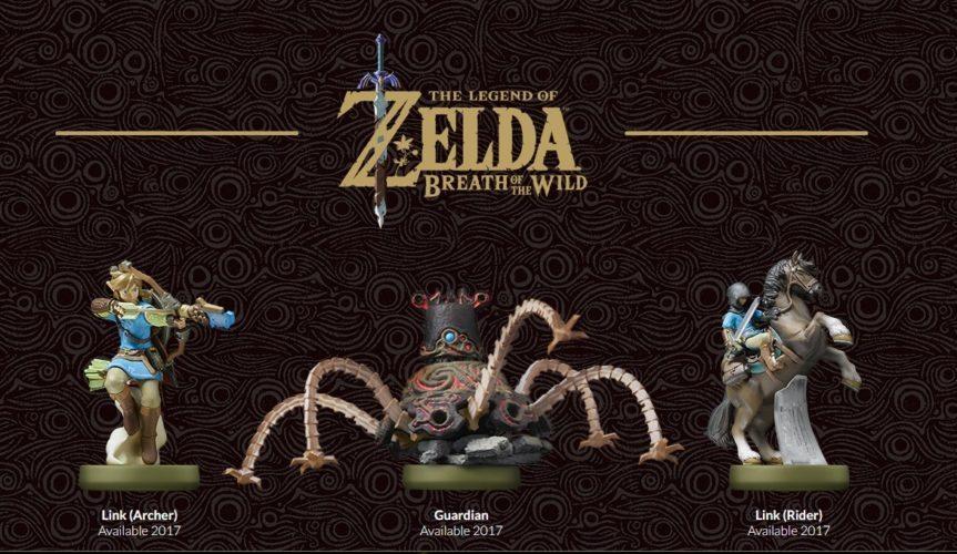 Zelda Breath of the Wild neue Amiibo Figuren von Link als Archer, Link mit Pferd und einem Guardian