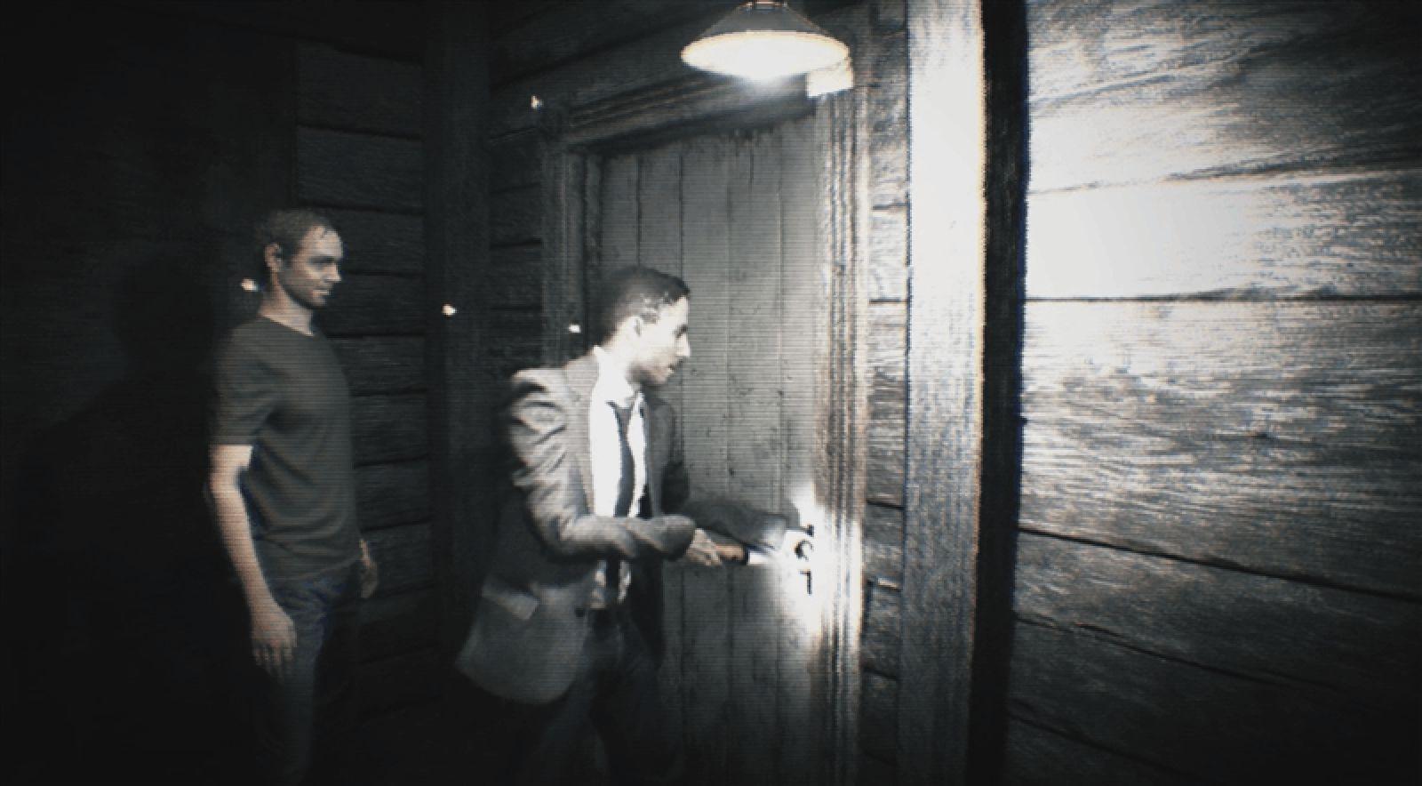 Ausschnitt aus der Resident Evil 7 Demo, André und Pete öffnen eine Tür.
