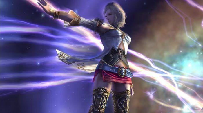 Final Fantasy XII Ashe bereitet ihre Mysth-Tek vor