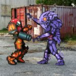Varia Suit Samus Pixel Cosplay Chozoboy | Quelle: http://chozoboy.deviantart.com